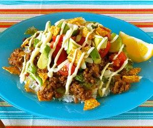 avocado, food, and rice image