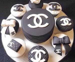 chanel, cake, and cupcake image