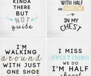 Lyrics, half a heart, and one direction image