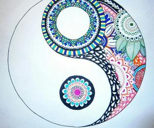 art, yin yang, and love image