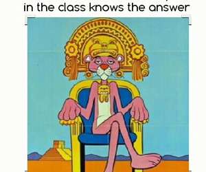 funny, pink panther, and laugh image