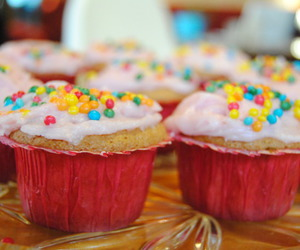 candy, colors, and cupcake image