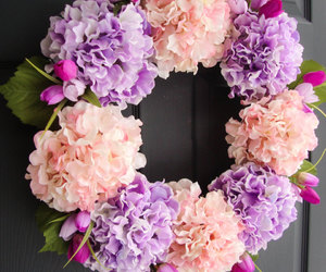 spring, wreath, and wreaths image