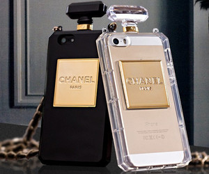 chanel, perfume, and phone cases image