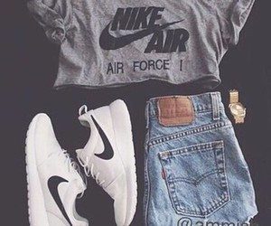 jeans, workout, and nike image