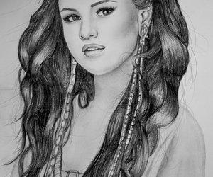draws, selena gomez, and selena gomez draws image