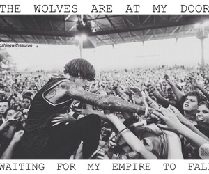 bands, black and white, and bmth image