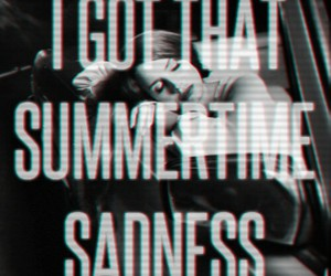 lana del rey, summertime sadness, and song image