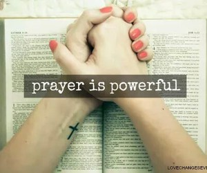 book, hands, and prayer image