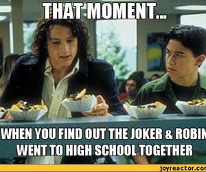 robin, heath ledger, and joker image