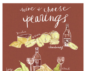 cheese, food, and handlettering image