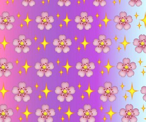 flowers, stars, and wallpaper image