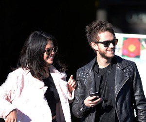 zedd, selena gomez, and zeddlena image
