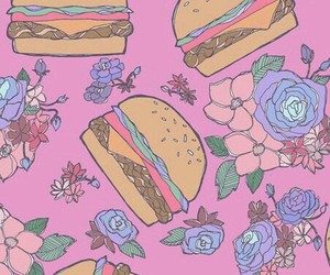 food, background, and flowers image