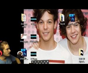 louis tomlinson, larry stylinson, and pewdiepie image