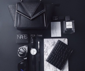 black, nars, and fashion image