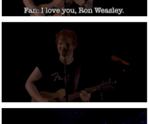 ed sheeran, funny, and concert image