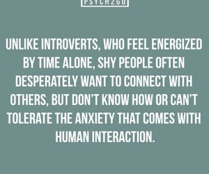 anxiety, introvert, and shy image