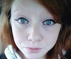 beautiful, redhead, and blueeyes image