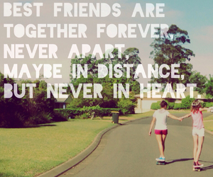 quote, friends, and together image