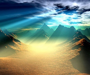 landscape and mountains image