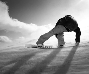 black and white and snow image