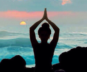 yoga, peace, and beach image