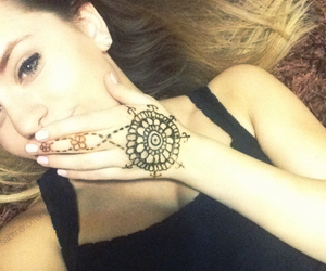 heart, henna, and little image