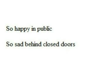 sad, happy, and quote image