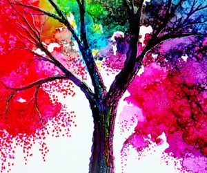 tree, art, and colors image