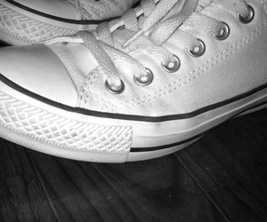 blacknwhite, converse, and hipster image