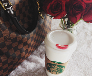 coffee, fashion, and lipstick image