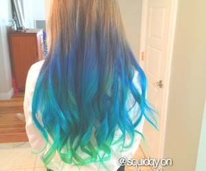 blue, cool, and dip dye image