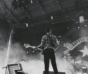 black and white, brandon flowers, and concert image