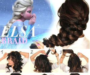 hair, elsa, and frozen image