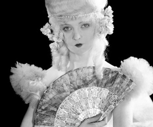 black and white, marie antoinette, and silent film image