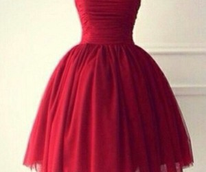 dress, lovely, and red image
