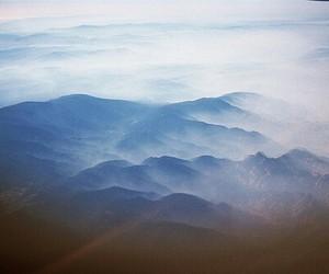 mountains, fog, and landscape image