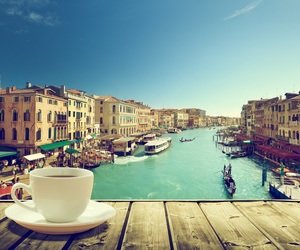 coffee, italy, and venice image