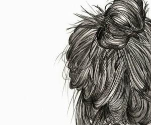 girl, hair, and drawing image