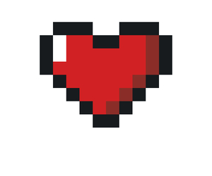8bit, black, and heart image