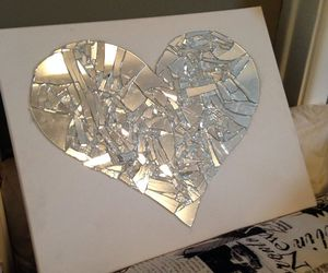 diy, heartshape, and brokenglass image