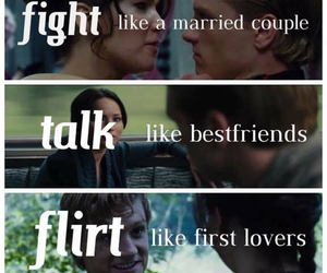 the hunger games, mellark, and love image