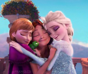 anna, elsa, and rapunzel image
