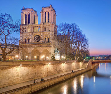 france, paris, and notre dame cathedral image