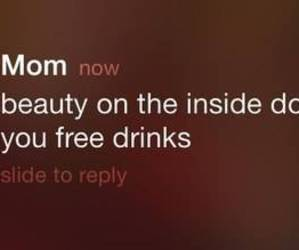 mom, beauty, and drink image