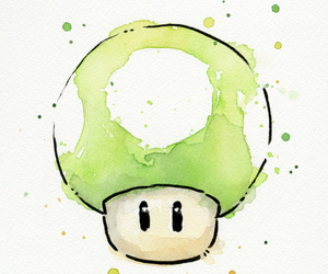 mario, super, and mushroom image