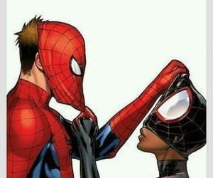 spiderman and interracial image