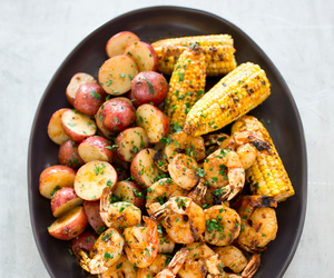 food, grilled, and shrimp image