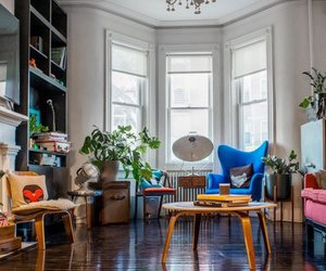 bright, home decor, and living room image